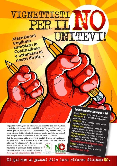 manifesto Vignettisti per il NO