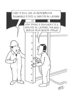 I voucher sono l'ultimo ritrovato in materia di retribuzione dei lavoratori: costano pochi euro e si trovano da tabaccaio. Così Marco Fusi.