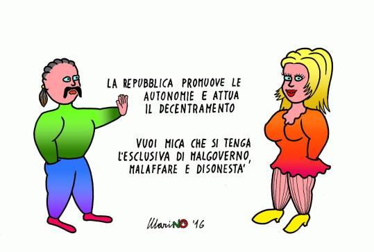 Ancora una vignetta di Marino Tarizzo sull'art. 5