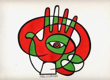 Pablo Echaurren 2006_vignettisti per il no_luglio