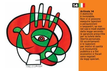 Pablo Echaurren Art.14_cartoline per la costituzione