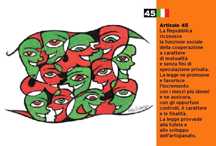Pablo Echaurren Art.45_cartoline per la costituzione