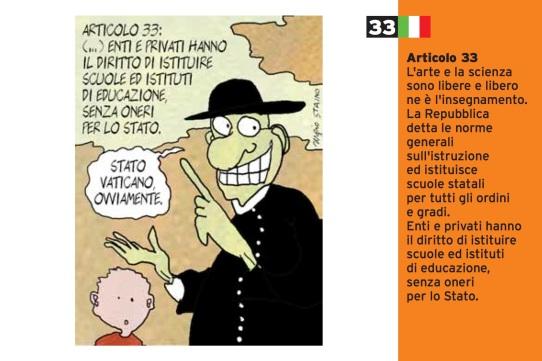 Sergio Staino Art.33_cartoline per la costituzione