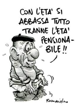 Dopo la settimana lavorativa, viene il giorno festivo: così è nelle religioni. Nella vita, dopo gli anni di lavoro, c'è la pensione: così è o dovrebbe essere nei regimi democratici. Ma ancora Umberto Romaniello.