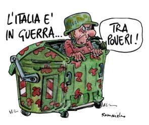 Umberto Romaniello denuncia un circolo vizioso: le guerre generano sempre più poveri, innescando guerre tra poveri.